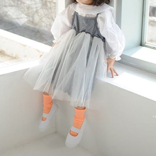summer childrens baby tutu dress with thin straps and full next skirt