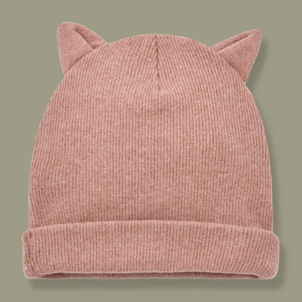 Paris Beanie With Ears Hat (Rose)