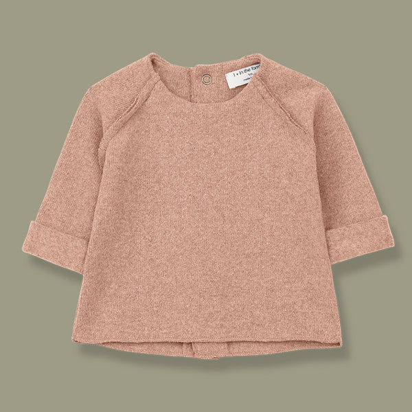 Napoli Soft Knit Feature Back Top (Rose)