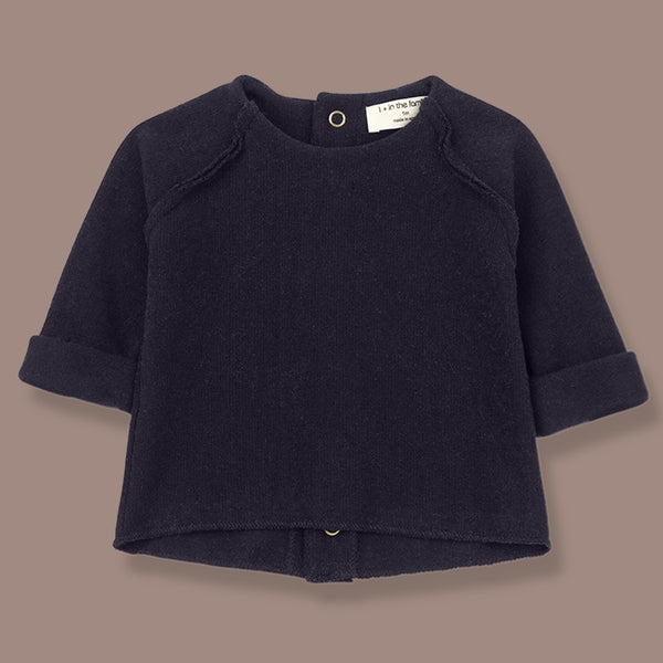 Napoli Soft Knit Feature Back Top (Navy)