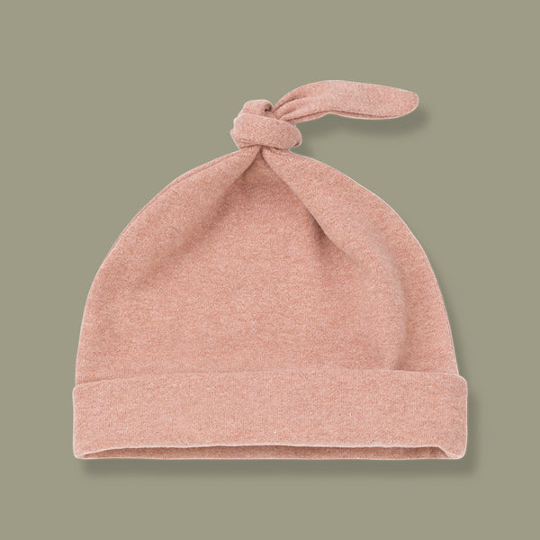 Madrid Beanie with Knot Hat (Rose)