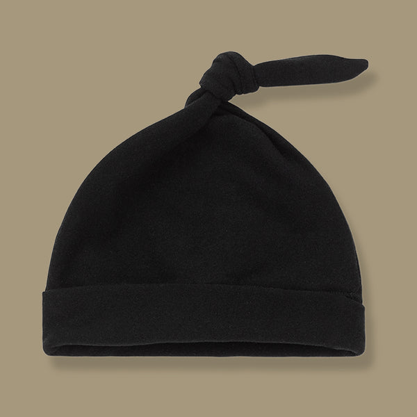 Madrid Beanie with Knot Hat (Black)
