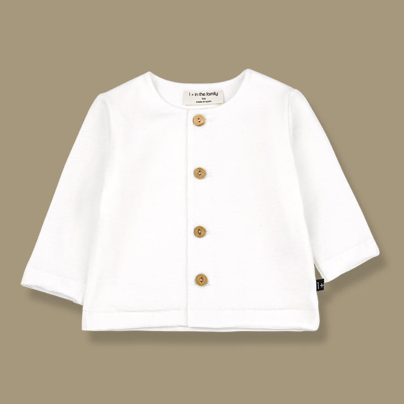 Aina Organic Jersey Button Up Top (White)