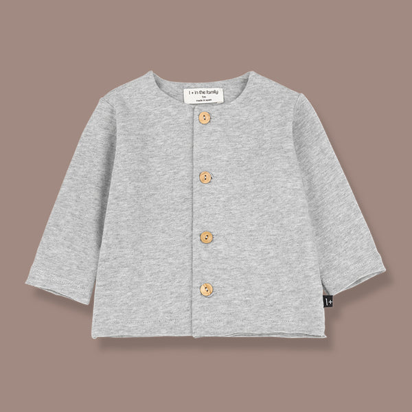 Aina Organic Jersey Button Up Top (Grey)