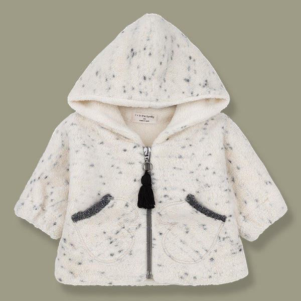 Oslo Mottled Polar Hooded Coat