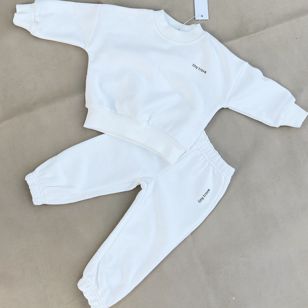 Woodie Logo Tracksuit Set (Chalk)