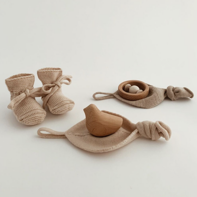 Merino Wool Booties (Sand)