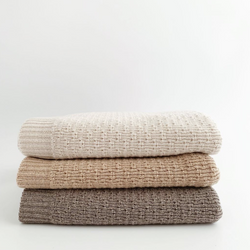 The Dora Merino Wool Winter Blanket (Sand)