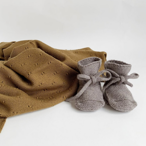 Merino Wool Booties (Otter)