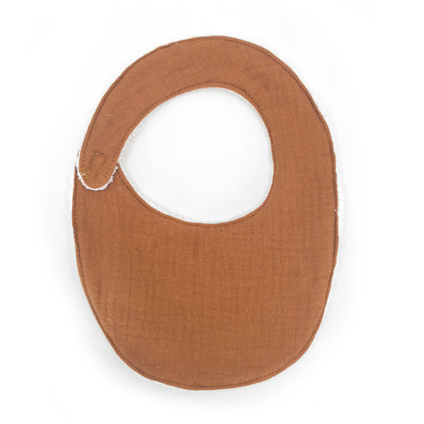 Organic Cotton Terry Bib, Set of 2 (Toffee)