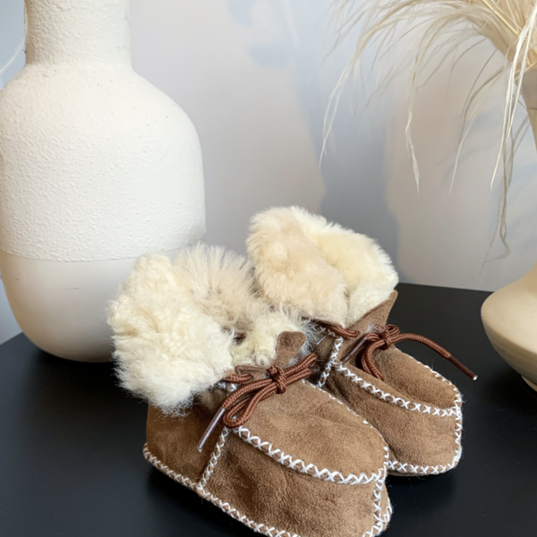 Miro Toffee 100% Sheepskin Booties
