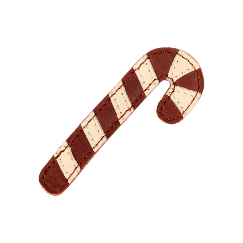 Josy Leather Candy Cane Hair Clip