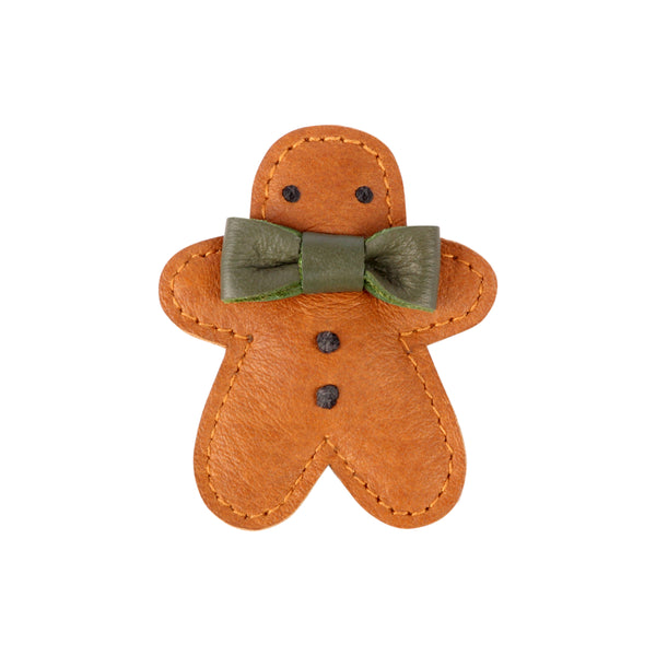 Josy Leather Gingerbread Hair Clip
