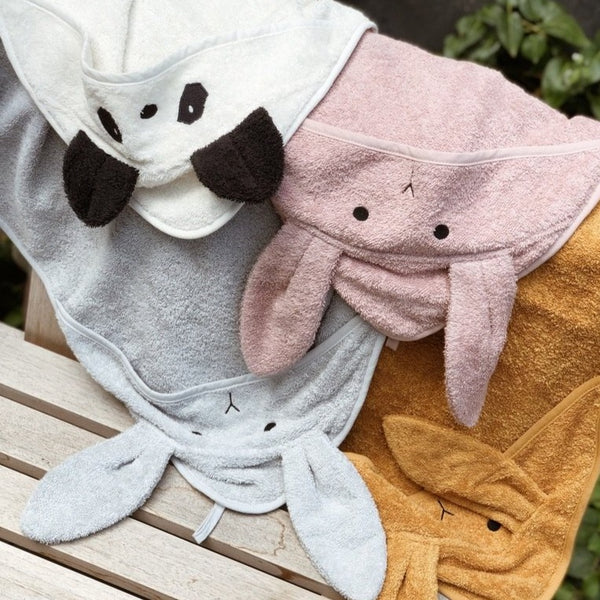 Augusta Rabbit Hooded Junior Towel (Dumbo Grey)