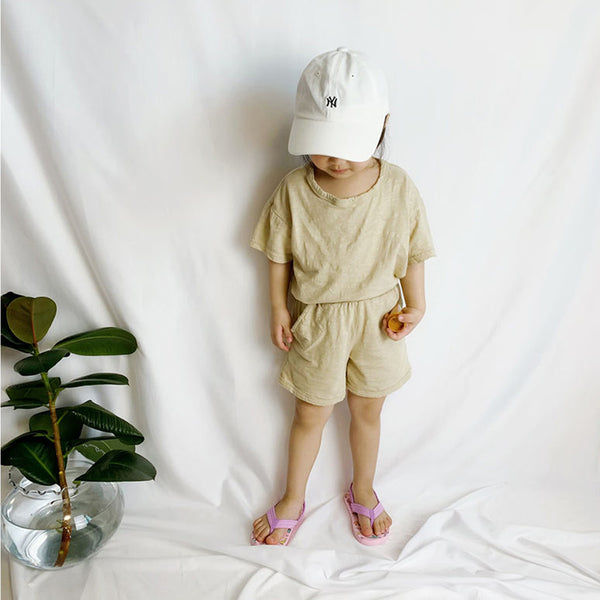 Vanilla Simple Summer 3 Piece Set (Cream)