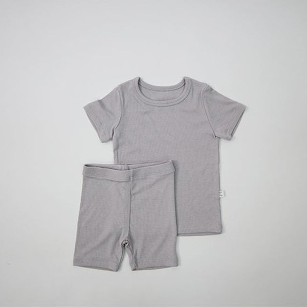 grey cycling shorts and t shirt set
