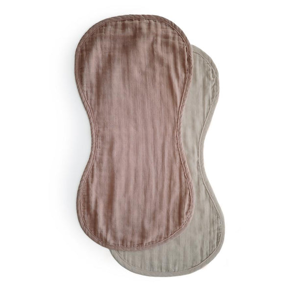 Extra Soft Organic Cotton Burp Cloth Set (Natural/Fog)
