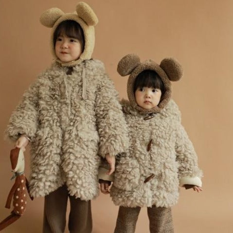 Izu Teddy Long Line Warm Coat (Beige)