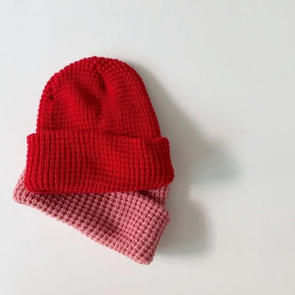 Sando Thick Waffle Beanie (Red)