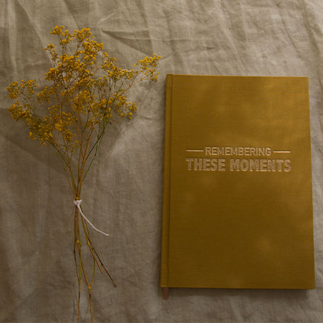 Remembering These Moments Journal - Ochre Linen