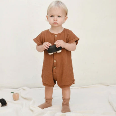 Artie Button Rib Romper