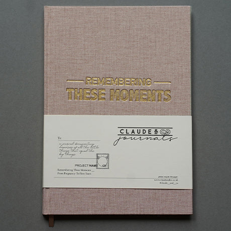 Remembering These Moments Journal - Caramel Beige Linen