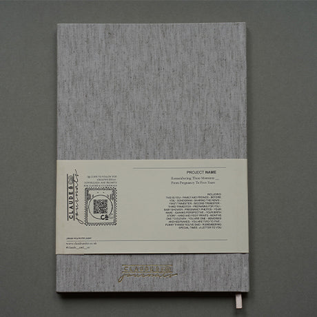 Remembering These Moments Journal - Grey Linen