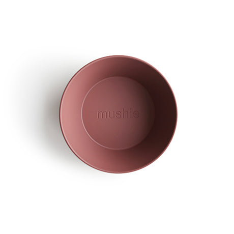 Round Bowls, Set of 2 (Woodchuck Pink/Brown)