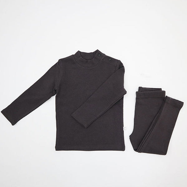 Turtle Simple Top and Leggings Set (Off Black)
