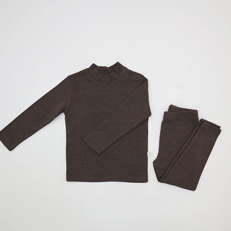 Turtle Simple Top and Leggings Set (Cocoa)