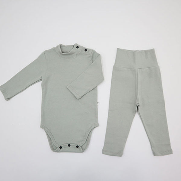 Turtle Romper and leggings Set (Mint)