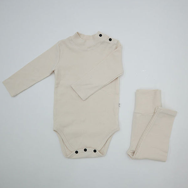 Turtle Romper and leggings Set (Cream)