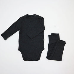 Turtle Romper and leggings Set (Charcoal)