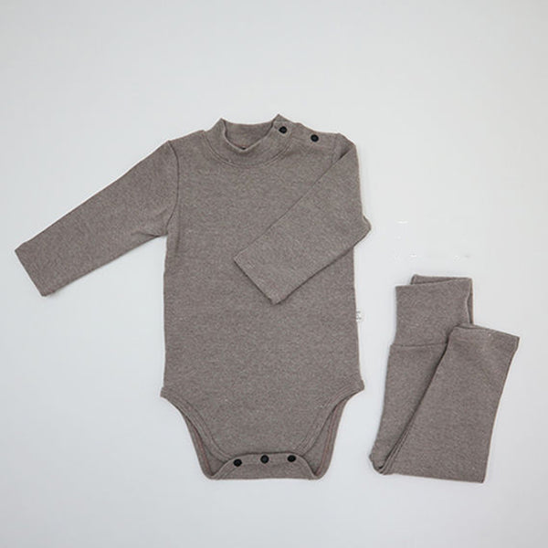 Turtle Romper and leggings Set (Mocha)