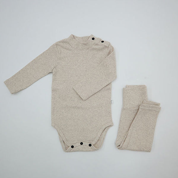 Turtle Romper and leggings Set (Oatmeal)