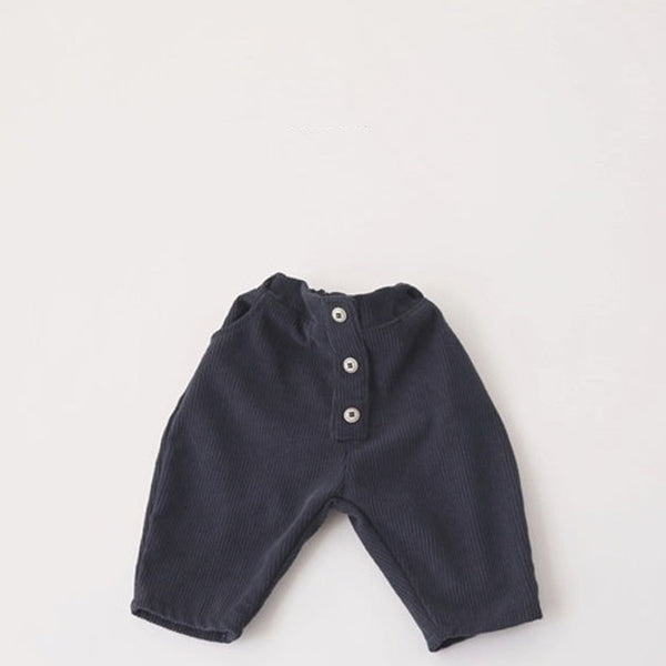 Tate Button Modern Corduroy (Navy)