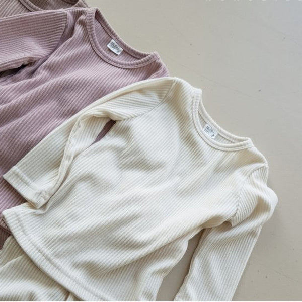 Nuno Ribbed T Shirt and Leggings Set (Cream)