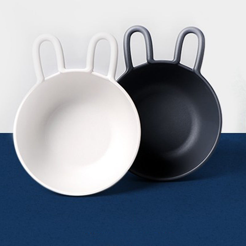 Bunny Ears BPA Free 2 Bowl Set (Charcoal/Ivory)
