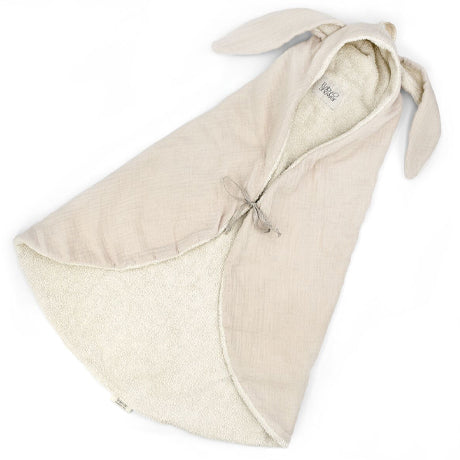 Bunny Terry and Muslin Cotton Swaddle (Beige Cloud)