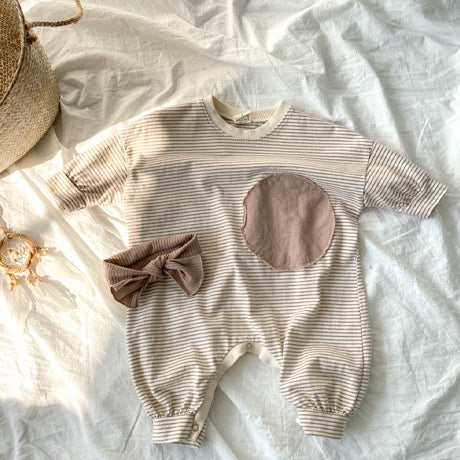 Otto Circle Bodysuit Romper (Stripe)