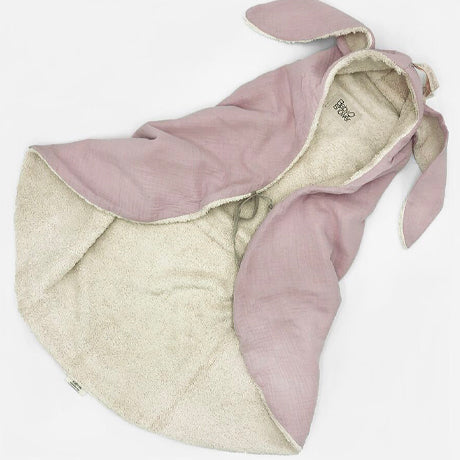 Bunny Terry and Muslin Cotton Swaddle (Rose)