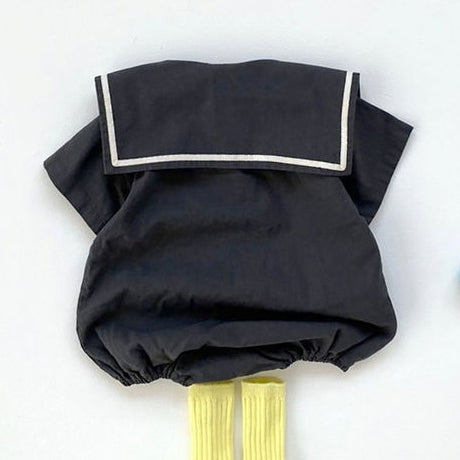 Garda Sailor Collar Romper (Charcoal)