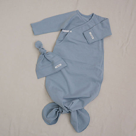 New Bebe Kimono Swaddle Suit with Knot Hat (Sky)