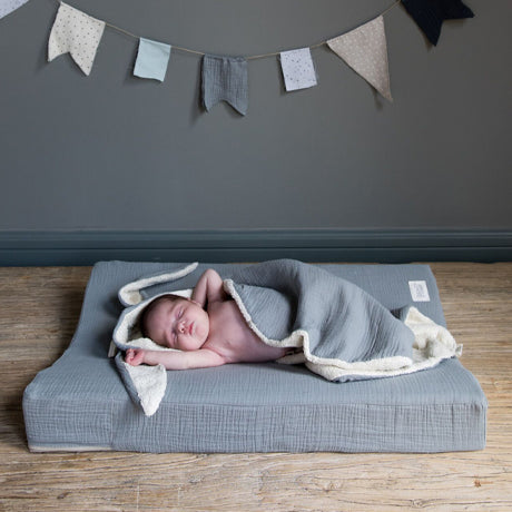 Bunny Terry and Muslin Cotton Swaddle (Dotty)