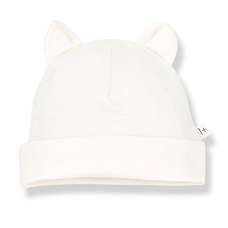 Leo Beanie With Ears Hat (Ivory)