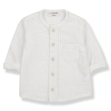 Oyon Cotton Textured Button Up Top (Off White)