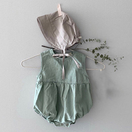 Ludo Cotton Romper (Sage)