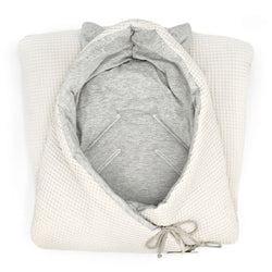 Organic Bambi Angel Nest with Harness Openings (Cream)