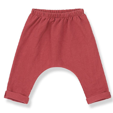 Matera Drop Crotch Trousers (Red)