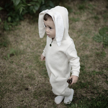 Bunny Ears Rabbit Romper Suit (Ivory)